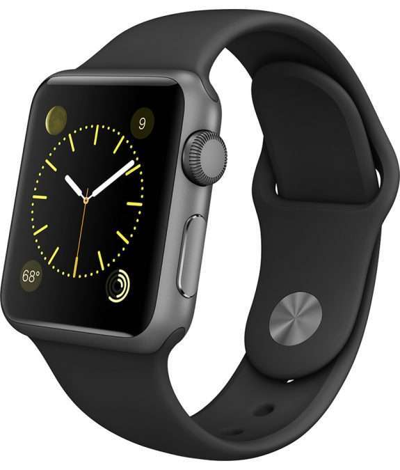Apple Watch 38 sport band black stainless steel